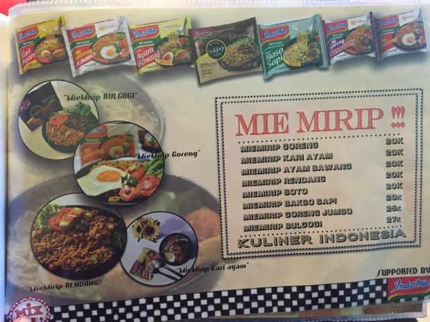 Daftar harga mie mirip Mix Florist and Dinner